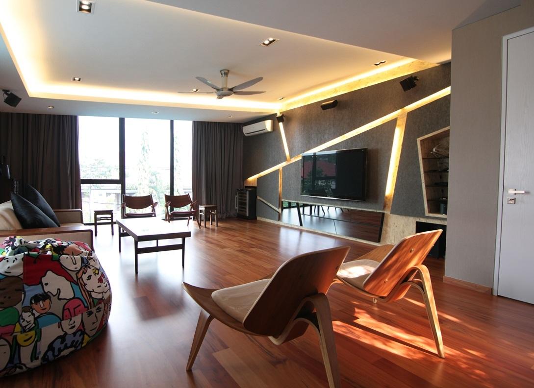 Modern AV room interior design by X Dimension Design ...
