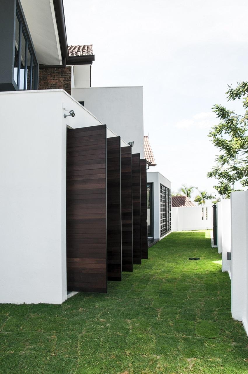 Interesting House Exterior Design In Kulai Malaysia: Corner Lot House Plans Malaysia