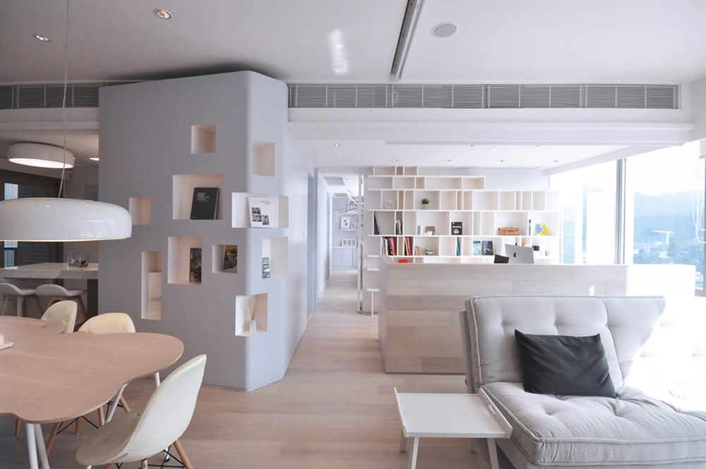 modern home office designed apartment by bean buro