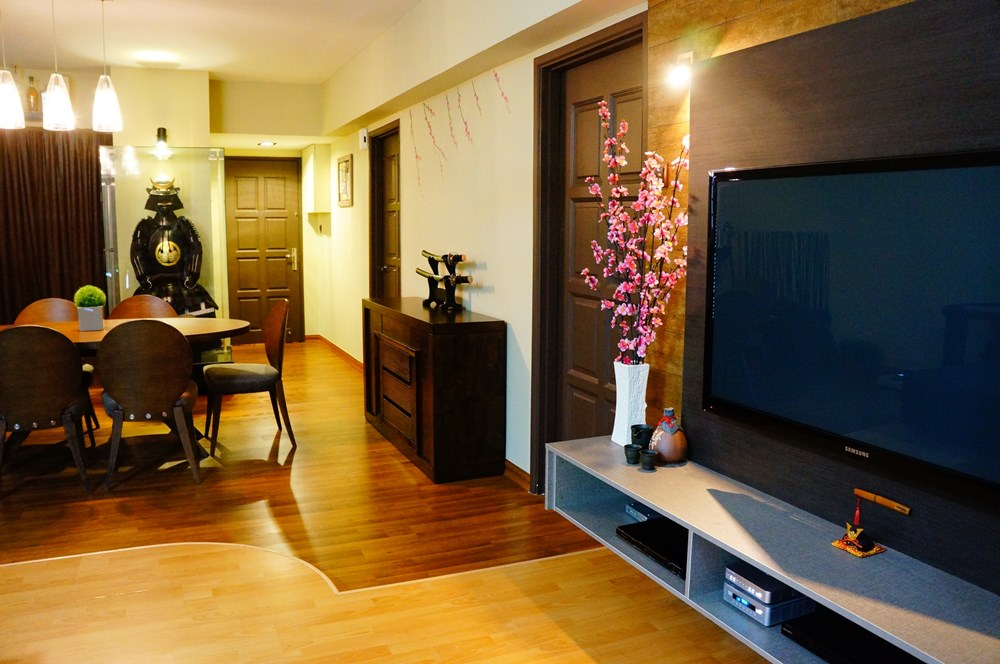 Japanese Inspired Apartment Interior By Jf Decor Engineering