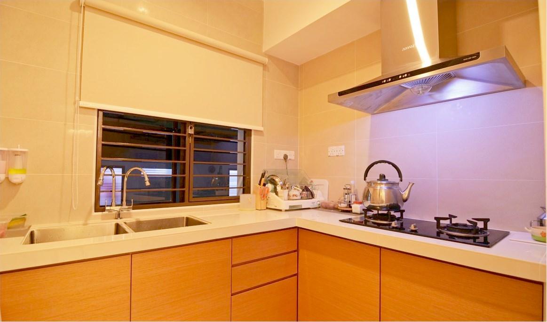 simple yet lovely wet kitchen design - Normal Kitchen Design
