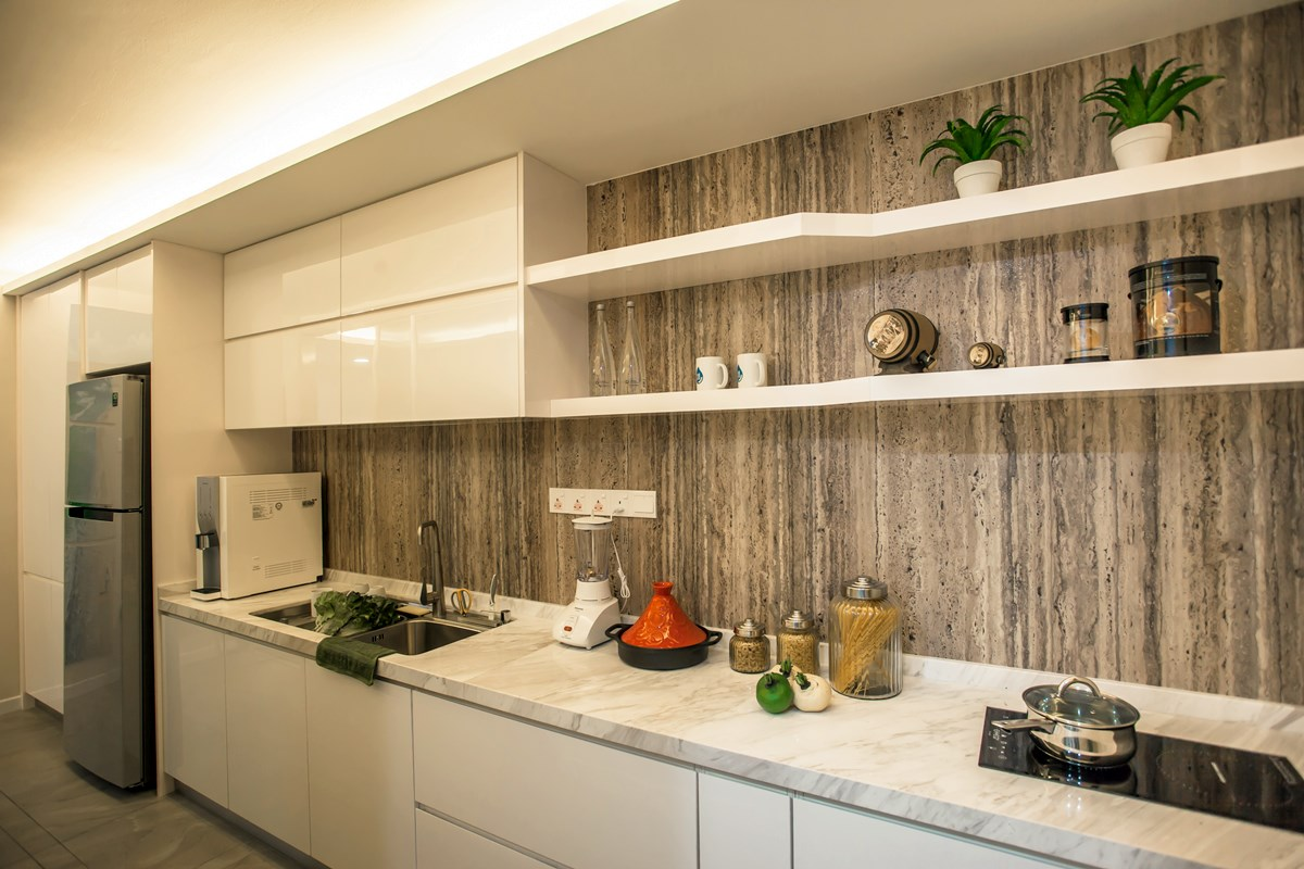 Evoking the elements of nature in this tanjung heights for High pressure laminate kitchen cabinets