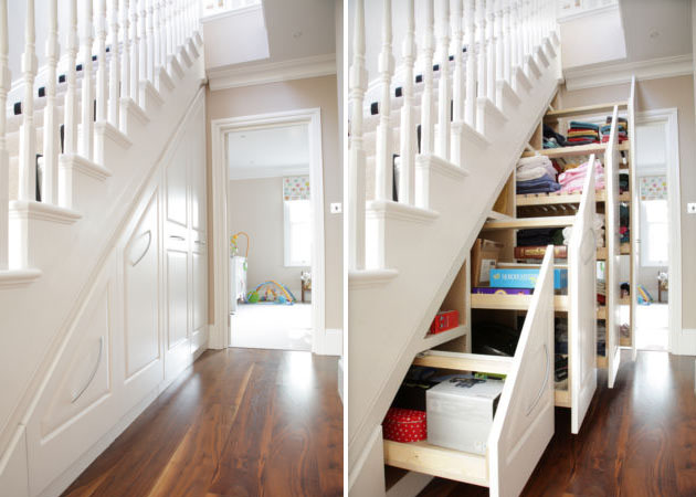 Hidden storage space in your home for Secret stair storage