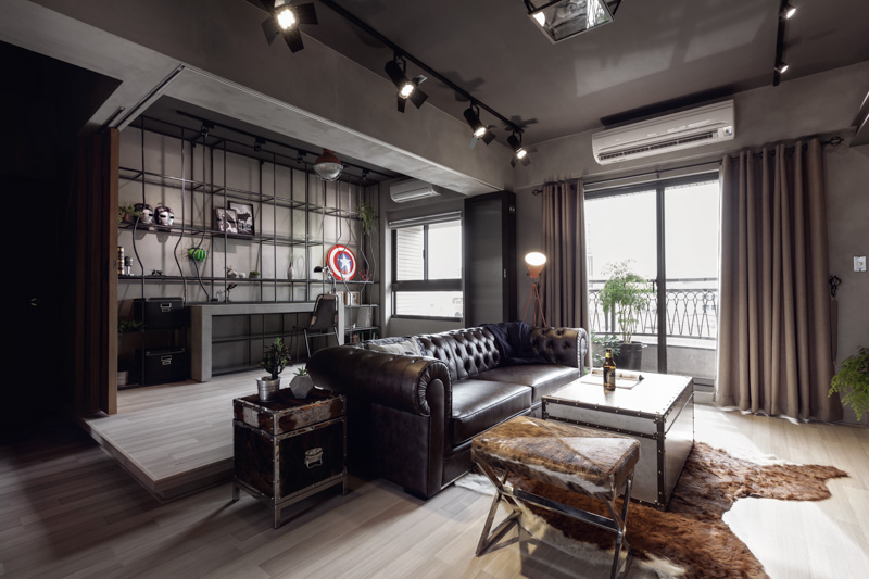 Industrial Styled Bachelor Apartment By House Design Studio