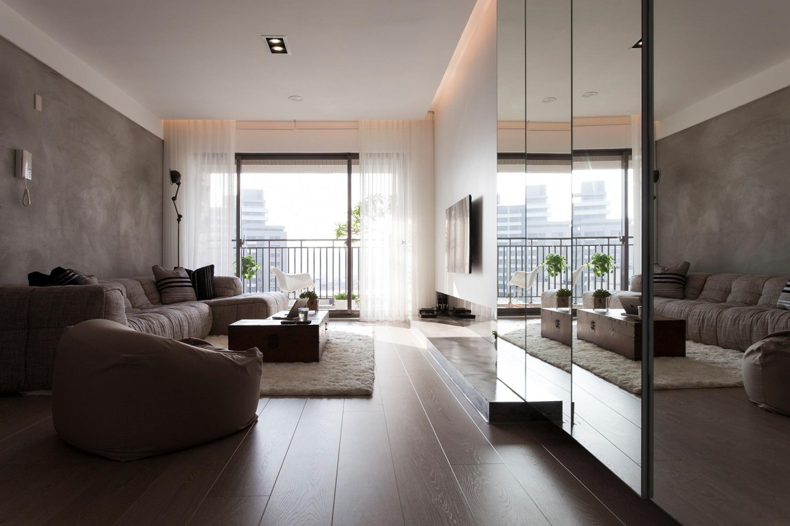 Modern contemporary taiwanese apartment interior design by fertility design