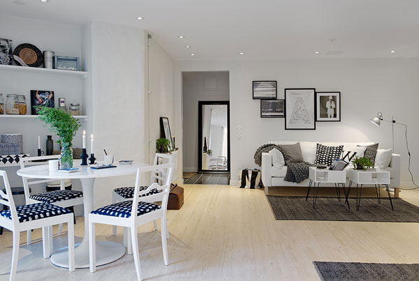 Cozy small Swedish apartment shows that size isn\'t always everything
