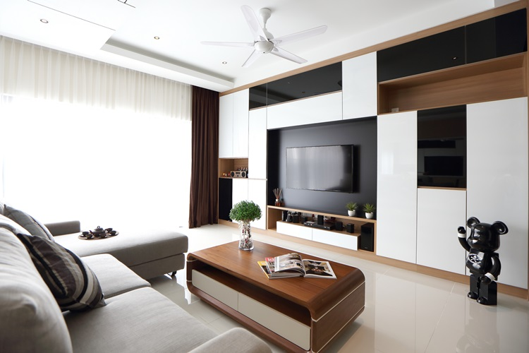 Modern setia walk apartment interior design by nu infinity for Modern living room malaysia