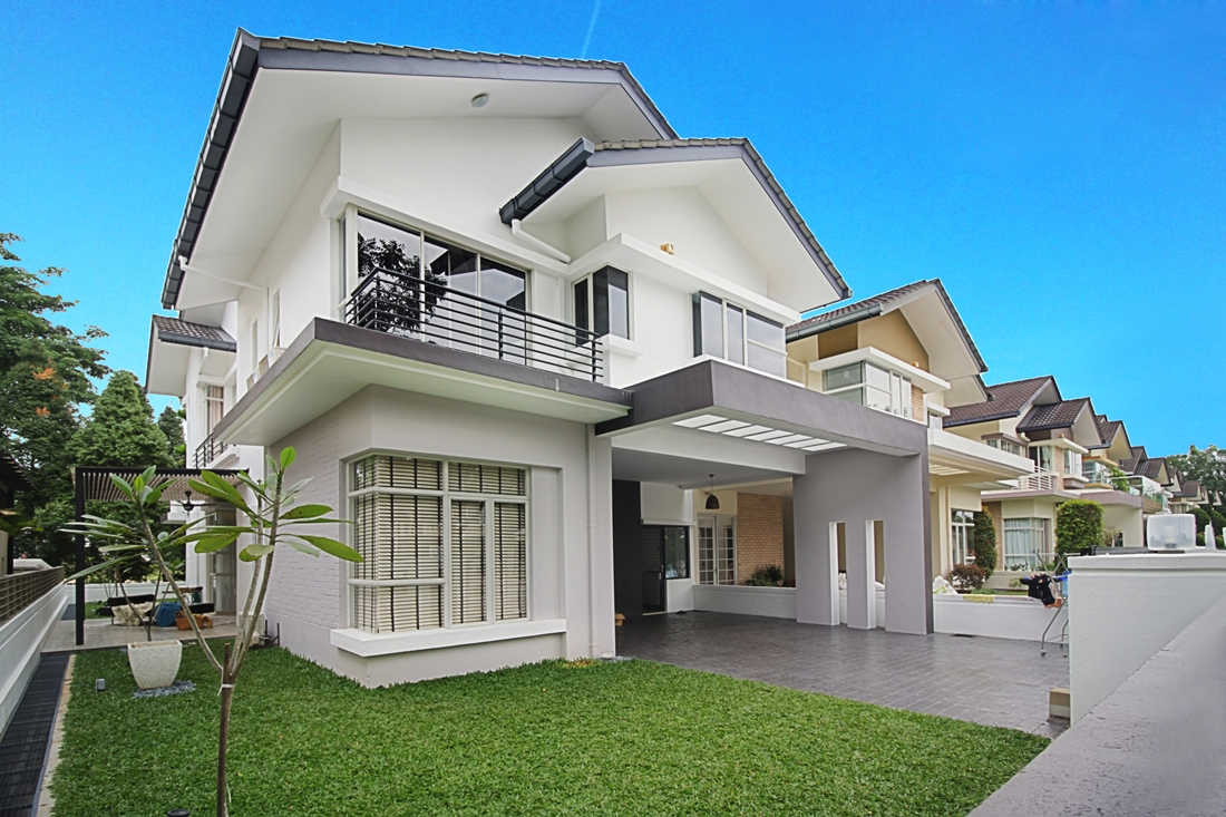 Semi detached house exterior design in malaysia front design for Exterior blueprint
