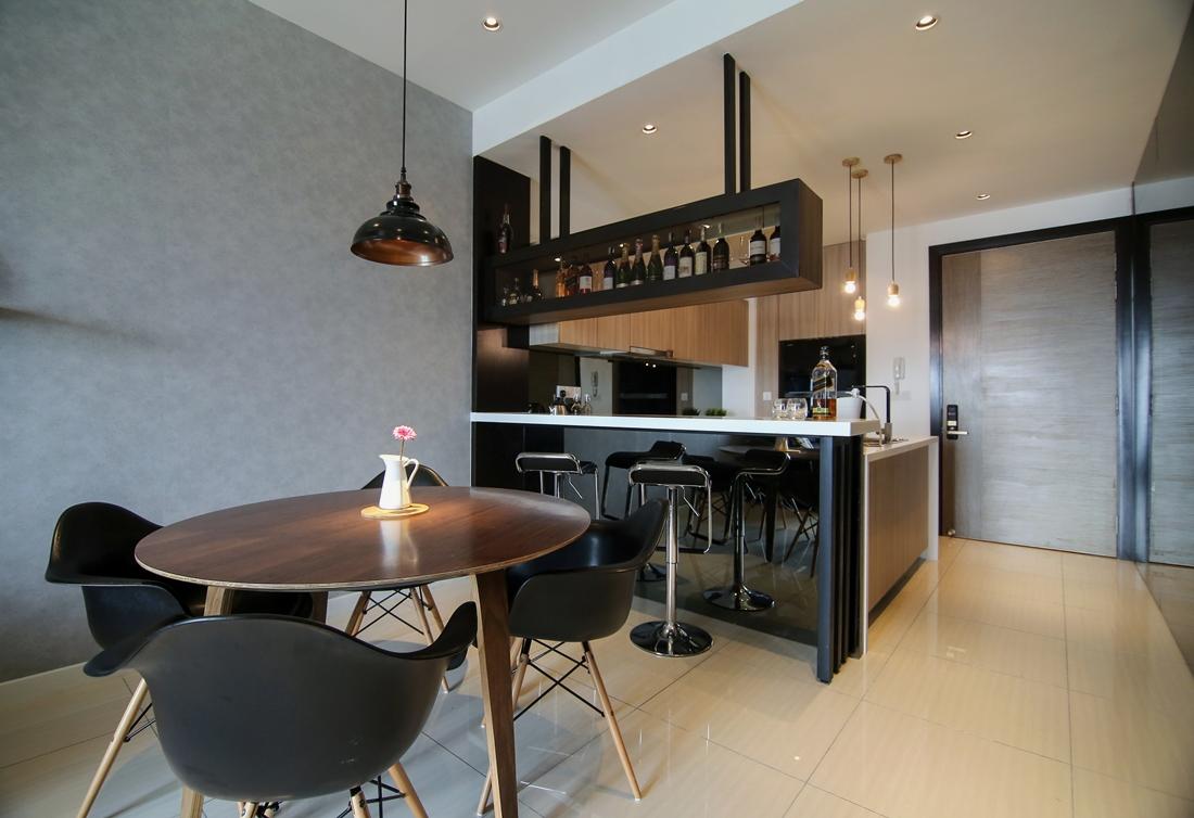 sleek urban elements condo interior design by nu infinity