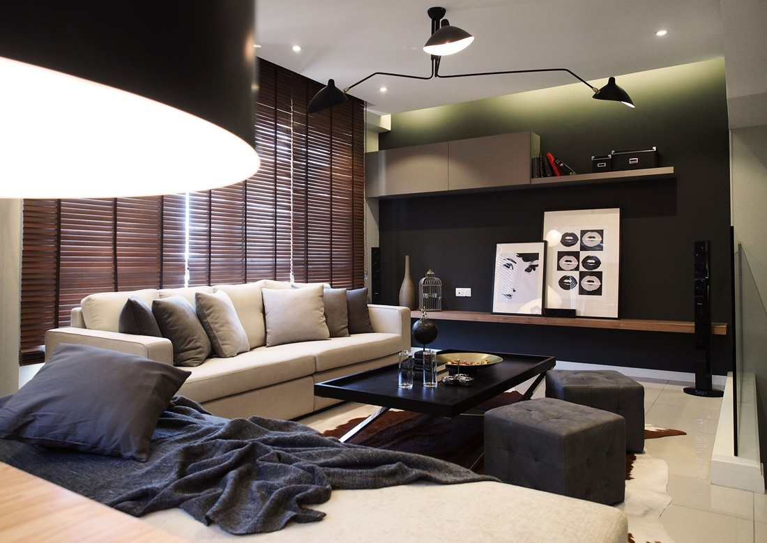 Canary residence home presents a quintessential chic for Modern living room malaysia