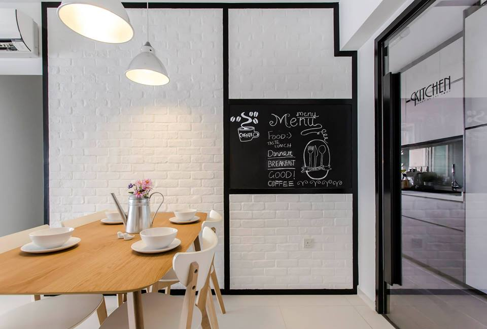 Hdb Brick Wall Design : Chic minimalism in a hdb apartment by icon interior design