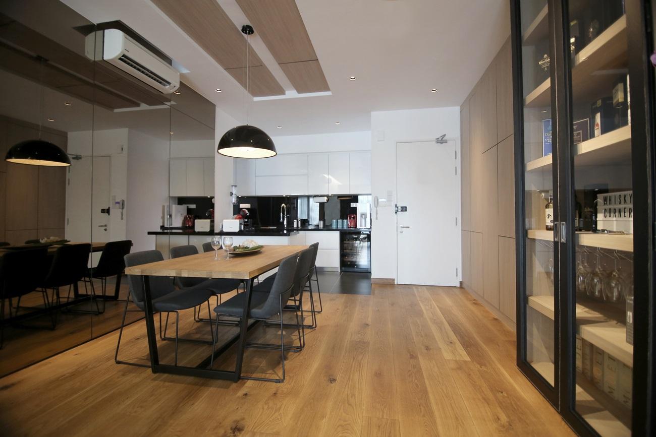 clean lines inspires this asian minimalist interior design
