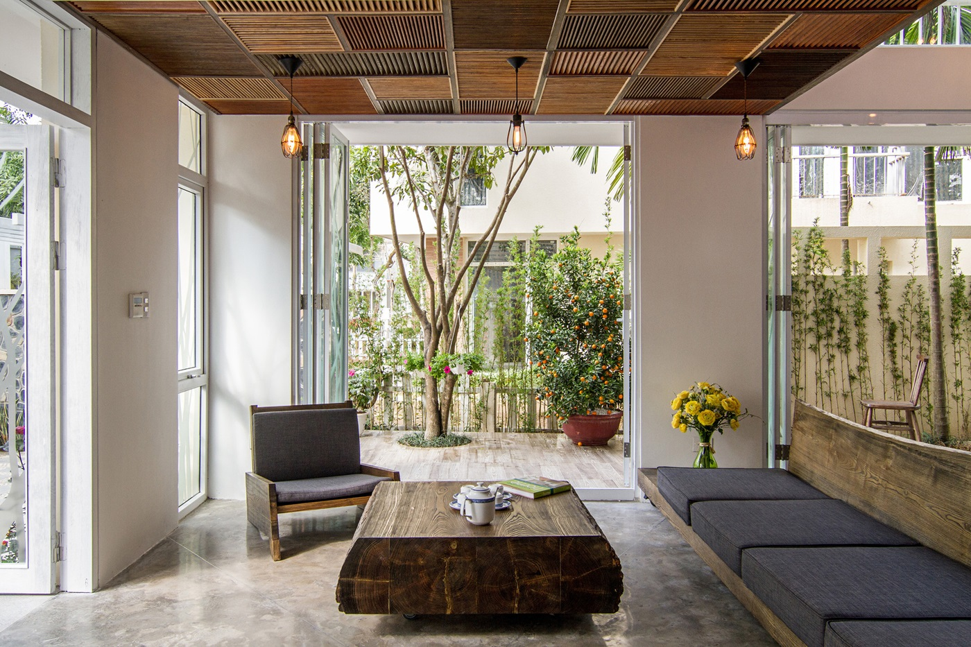 Raw finishes and fascinating interior elements by ahl for Interior design in vietnam