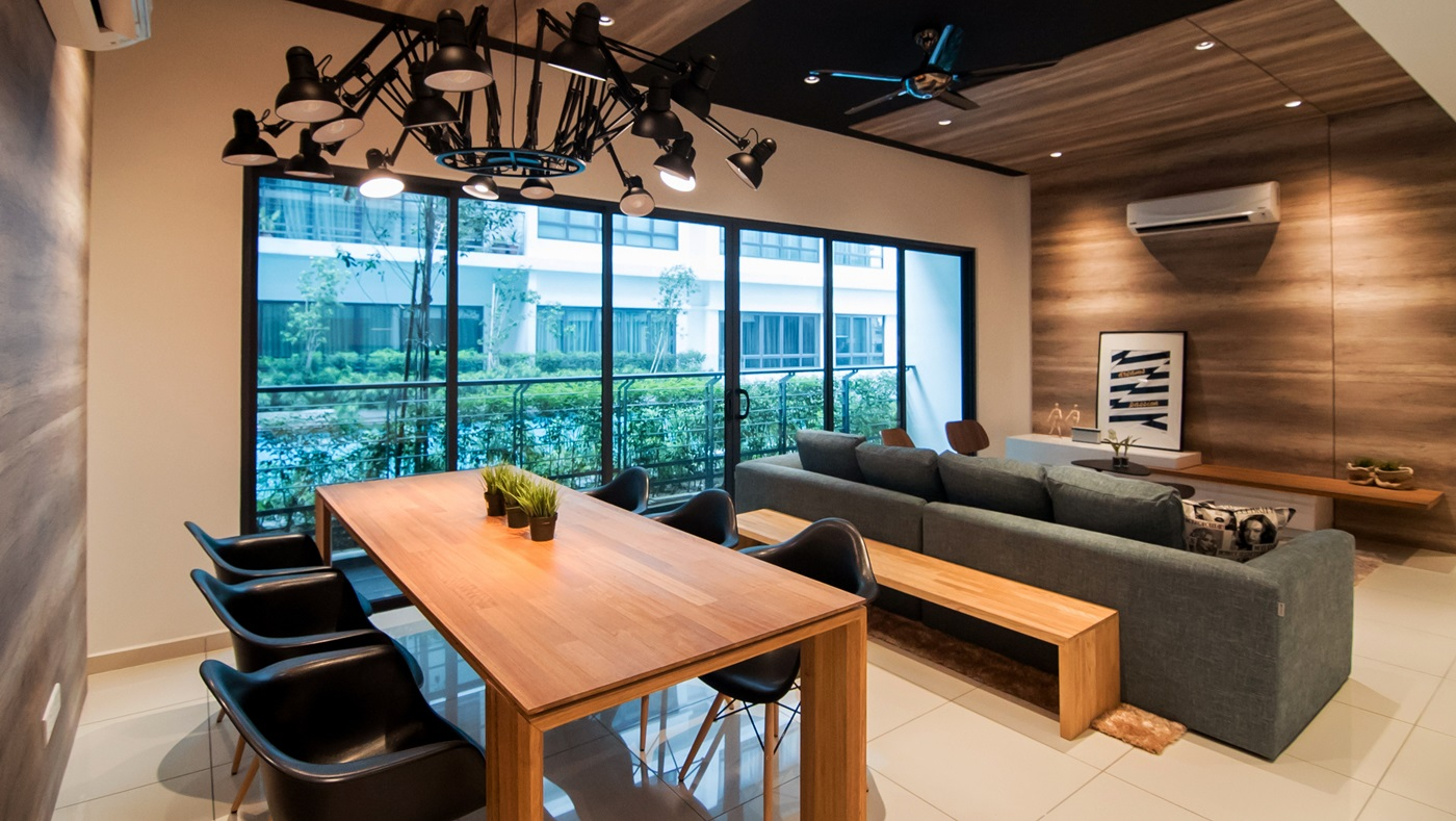 Young modernist condominium interior design by nu infinity for Modern home decor malaysia