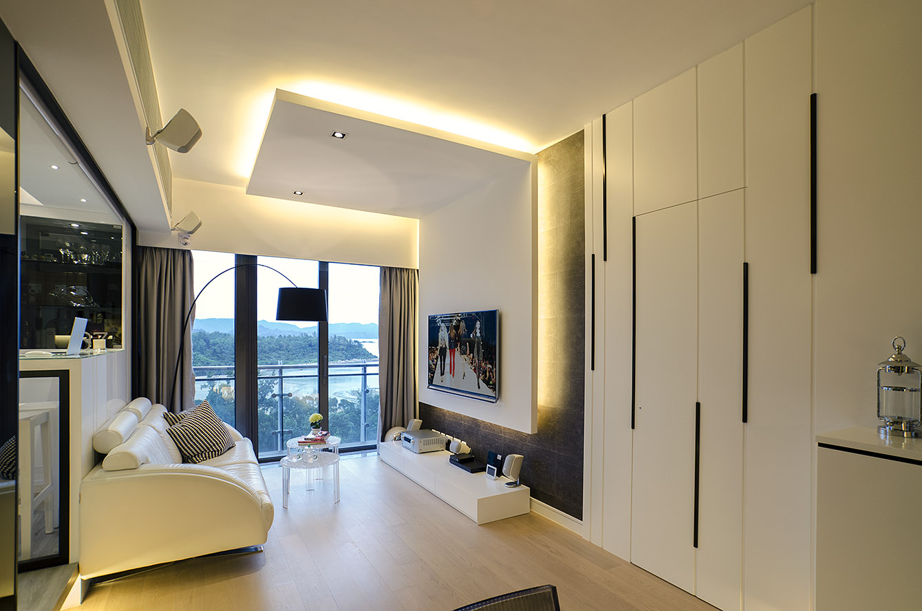 Interplay of space designed by int design furniture result for Modern house hk