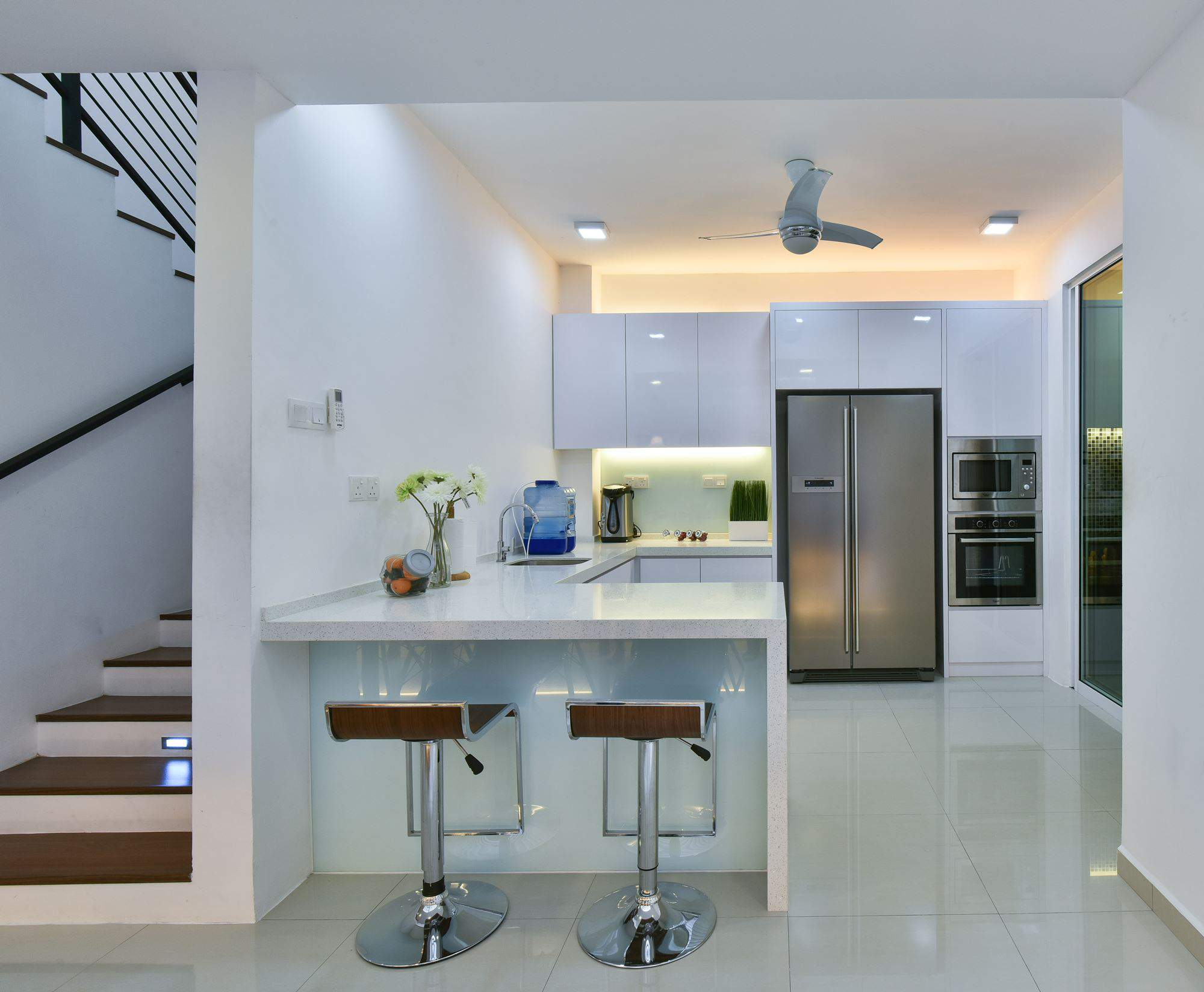 Latest Modern White Terrace House Kitchen Design By Surface R With Kchen  Design Outlet