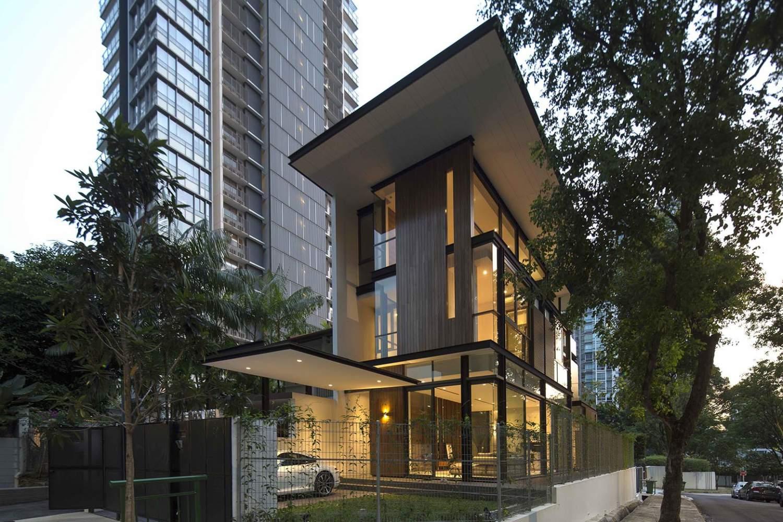modern tropical terrace house design by ar43 architects