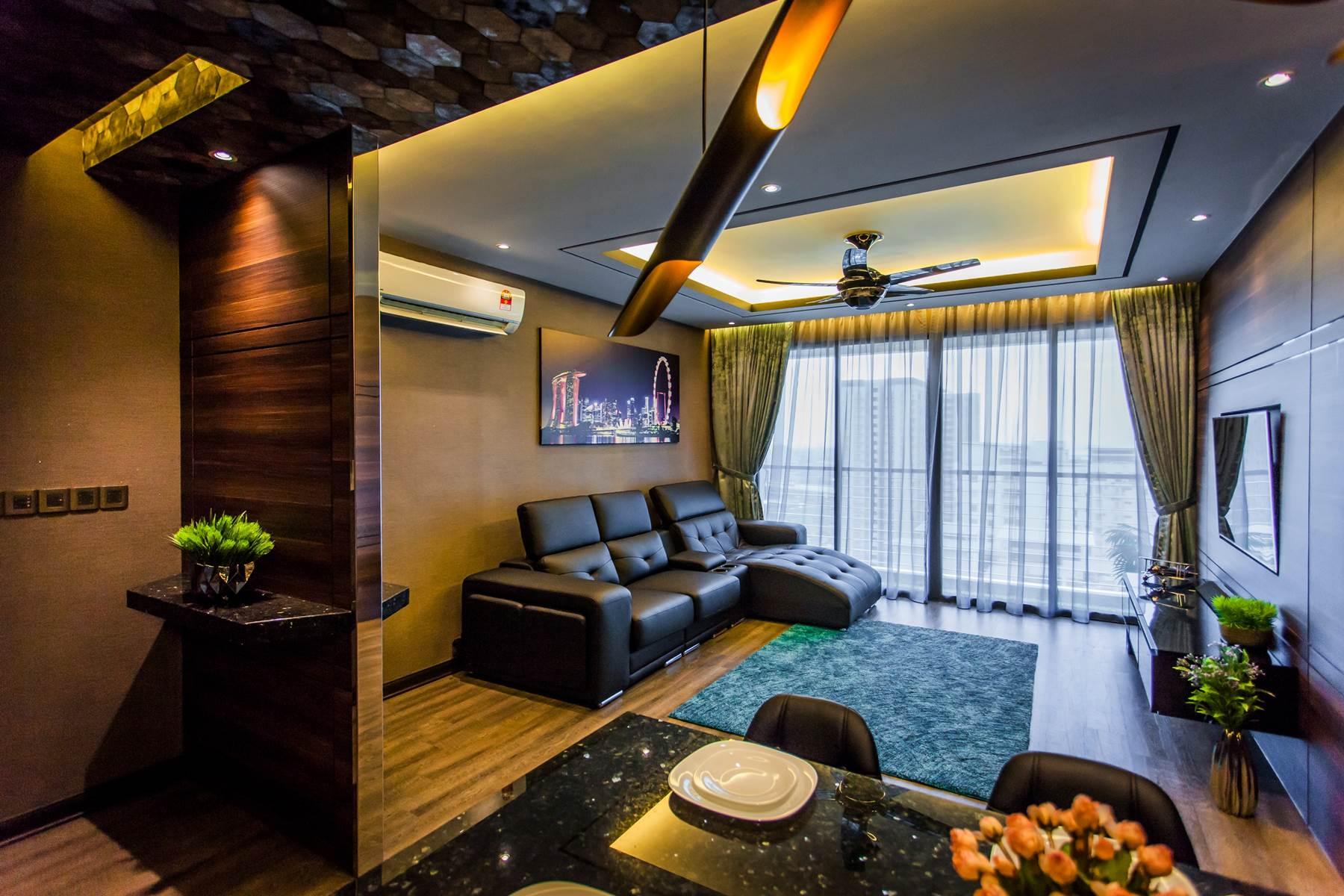 Stylish Modern Condominium Interior Design In Penang Malaysia