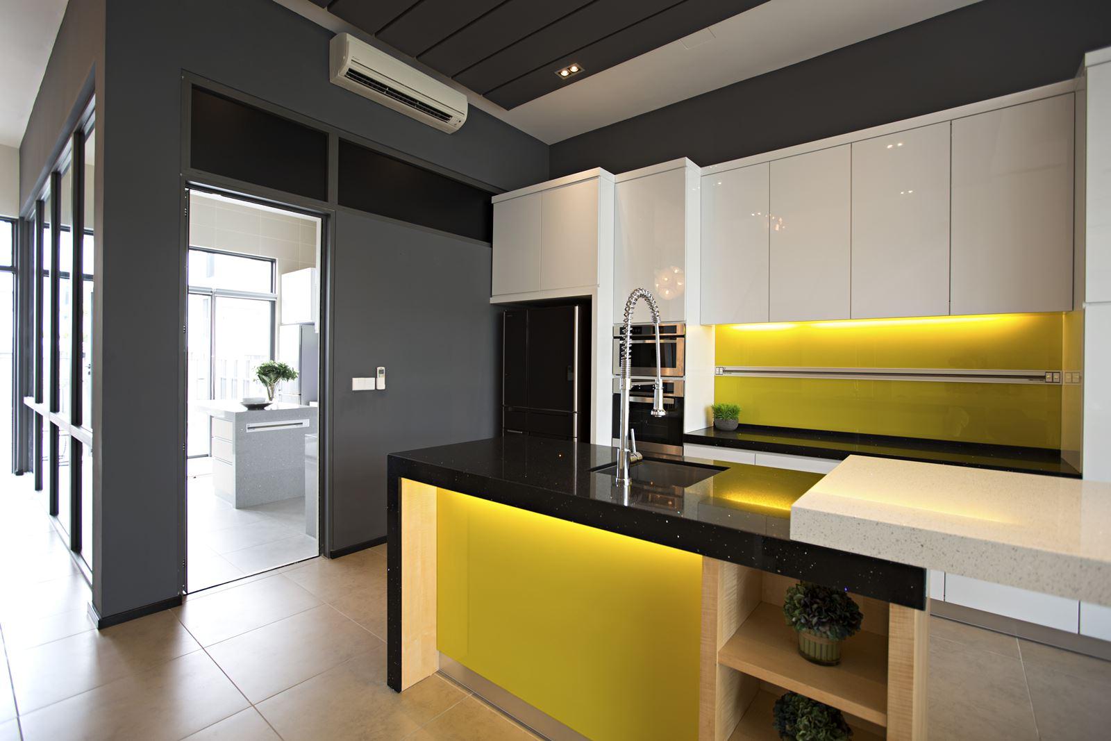 Stylish And Modern Dry Kitchen Design By Turn Interior TDi
