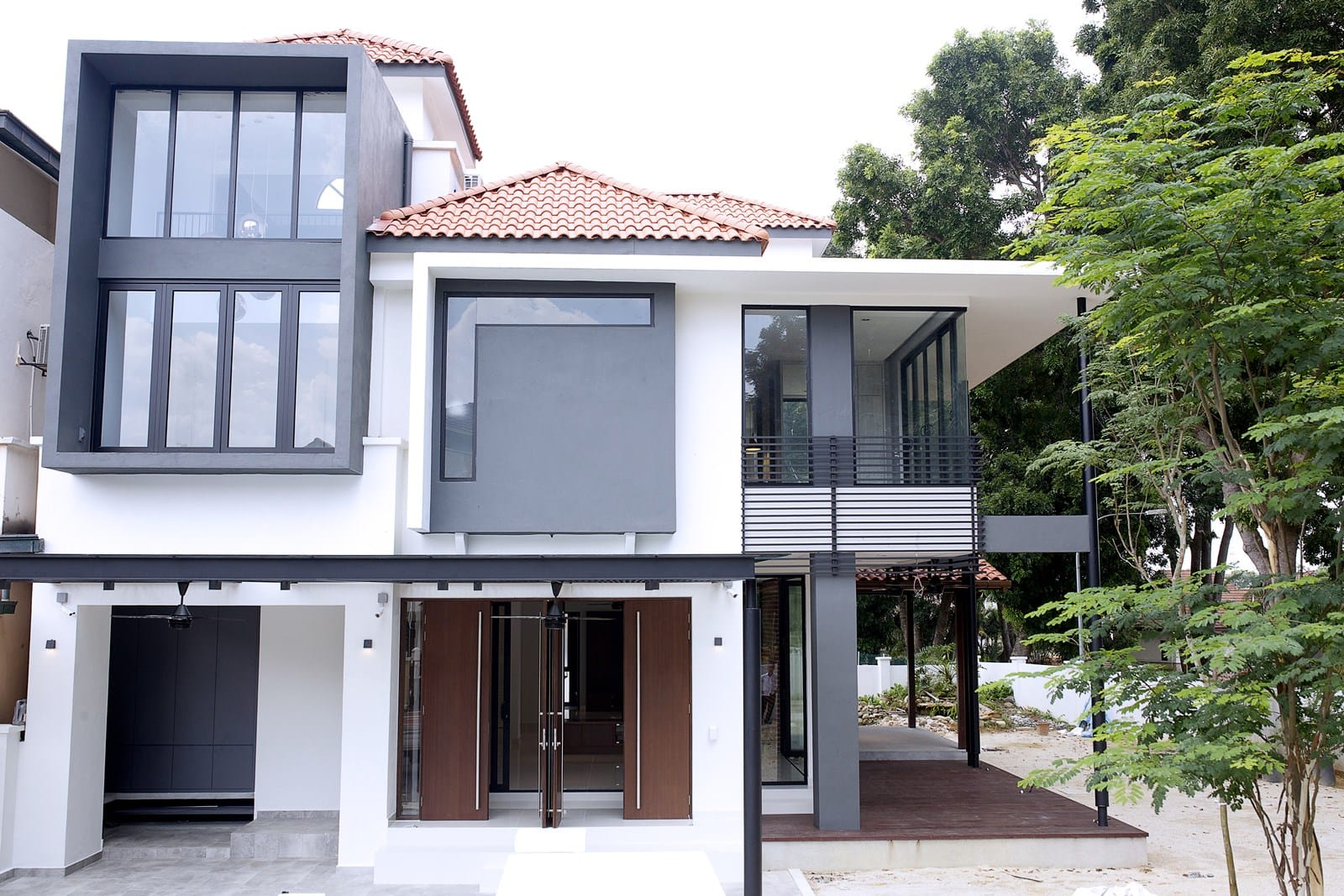 modern semi detached house design in kota kemuning shah alam - Modern Semi Detached House Plans