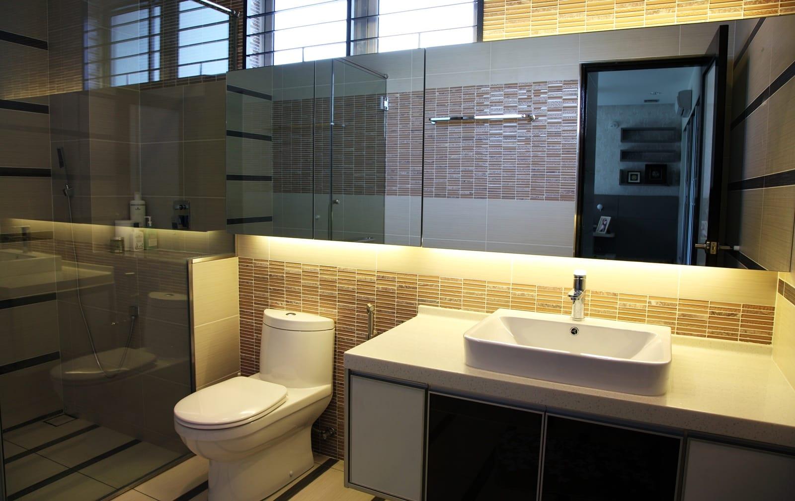 Large size of bathroom red bathroom paint orange bathroom for Attached bathroom designs