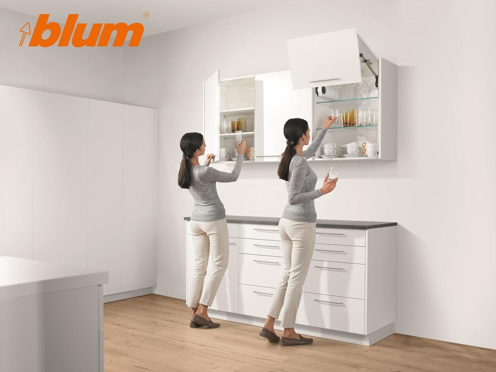 Kitchen cabinet accessories blum - Kitchen Accessories By Blum Innovative Kitchen Cabinets Door Opening And Closing Hardware By Blum
