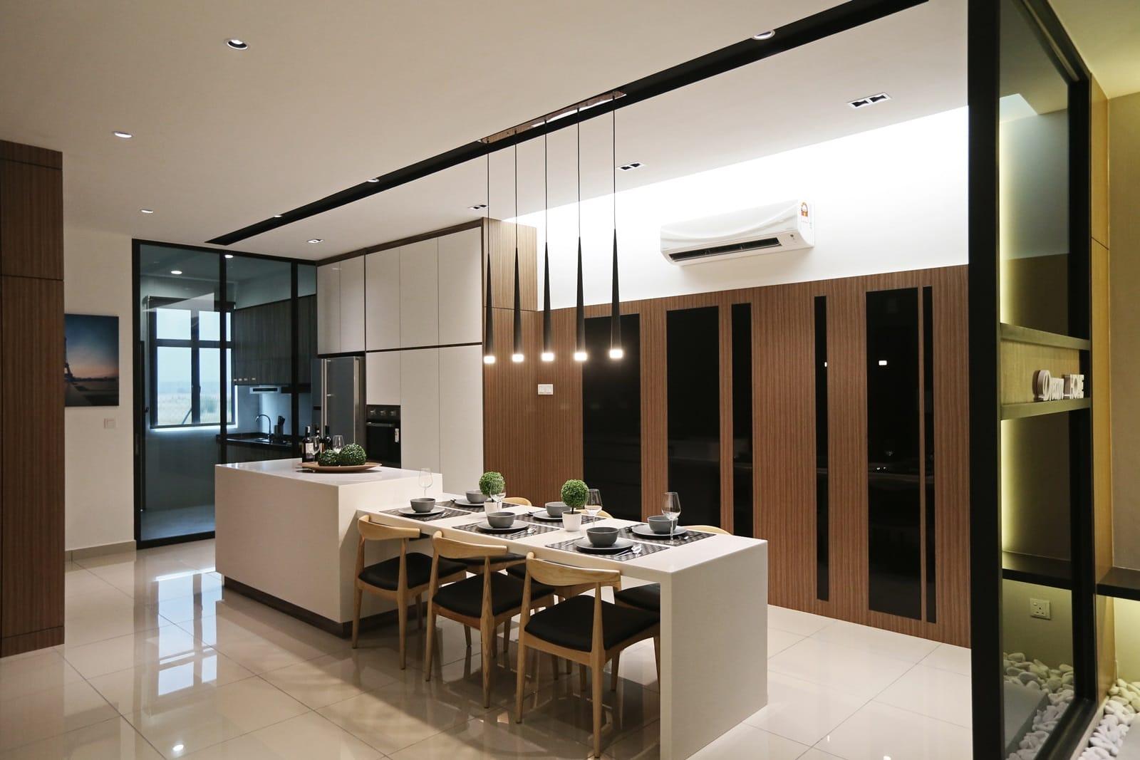 Rimbun vista show unit receives a sleek and stylish touch for Infinity kitchen designs