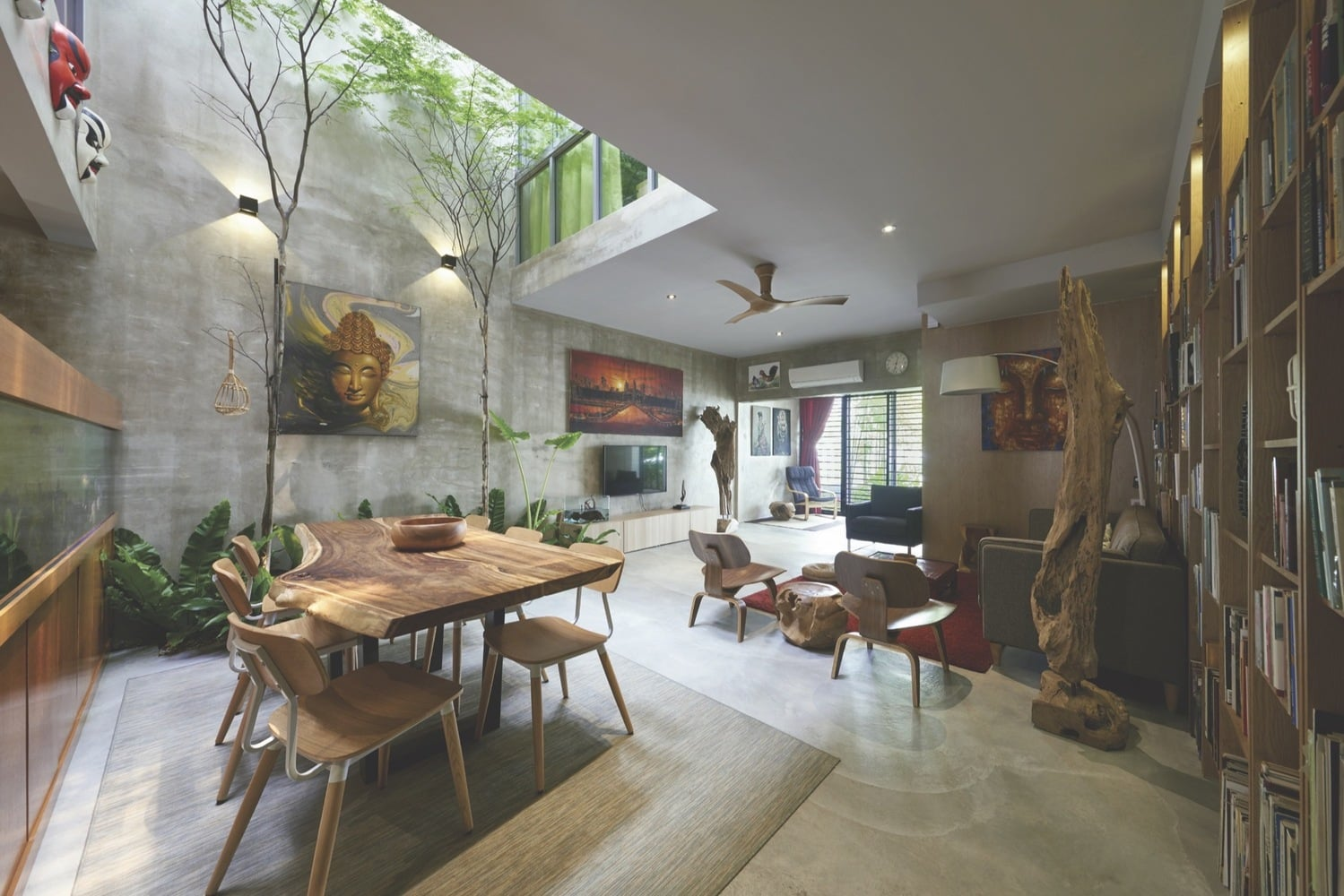 An average terrace house envisioned in an not so average