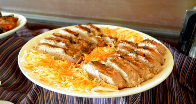 Grilled tuna – I took only a little bit of it because I ate too much tuna yesterday