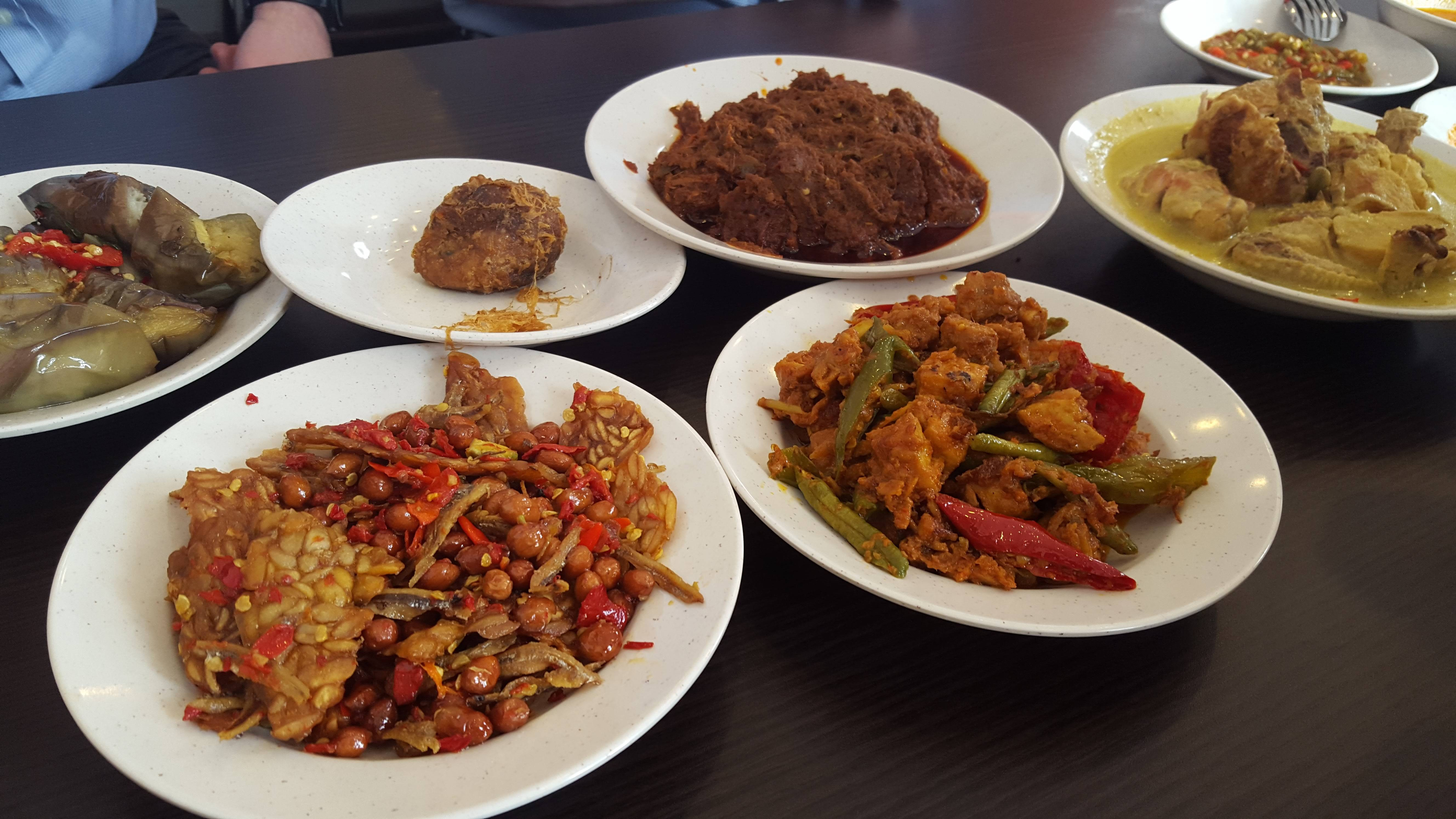 Rendang and other dishes