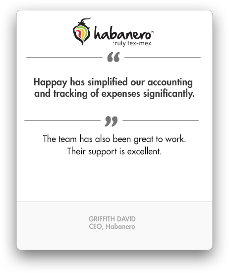 Happay Habenero Testimonial, Employee Petty Cash