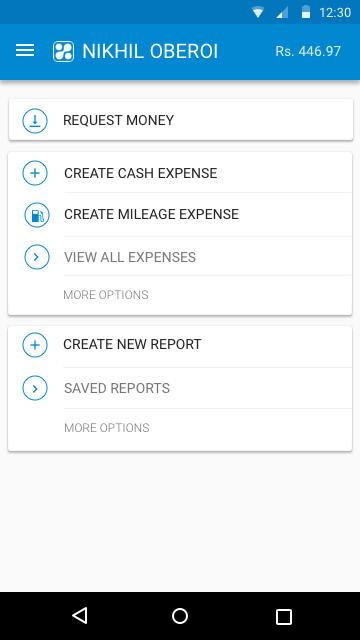 Happay Create Cash Expense