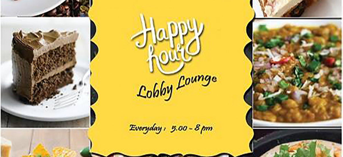 Happy Hour Lobby Lounge from 5pm to 8pm