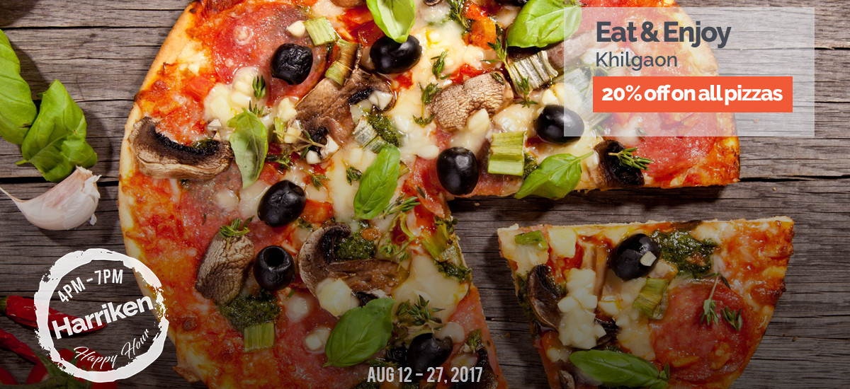 20% off on all pizzas