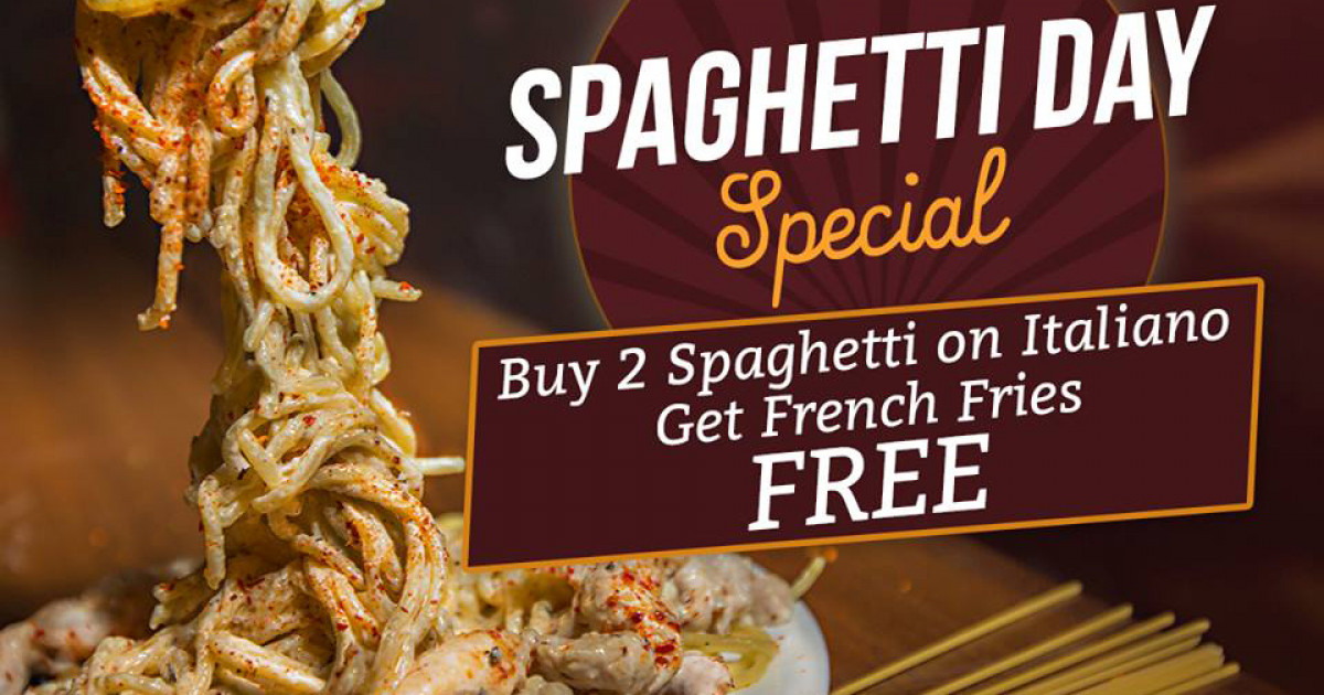 Celebrate Spaghetti Day Offer