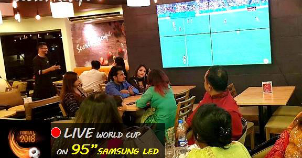 Live World Cup at Secret Recipe