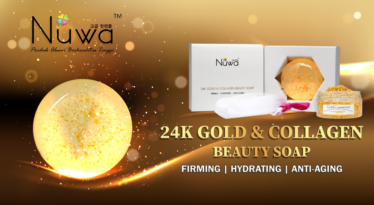 24K Gold & Collagen Beauty Soap 100g