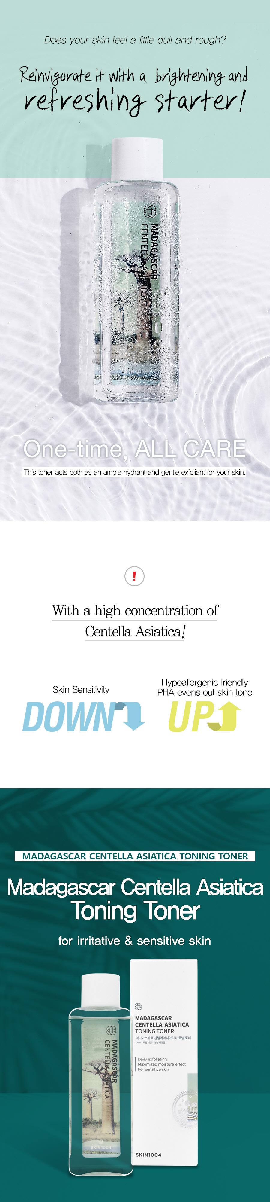 Madagascar Centella Asiatica Toning Toner