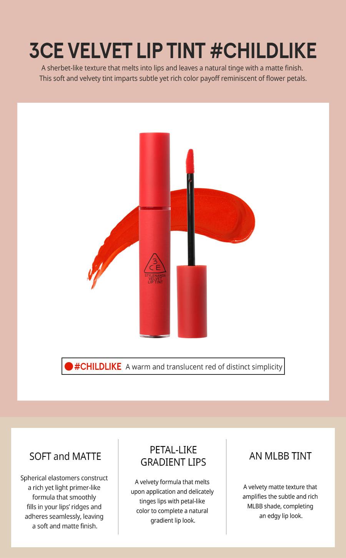 3CE Velvet Lip Tint #Childlike