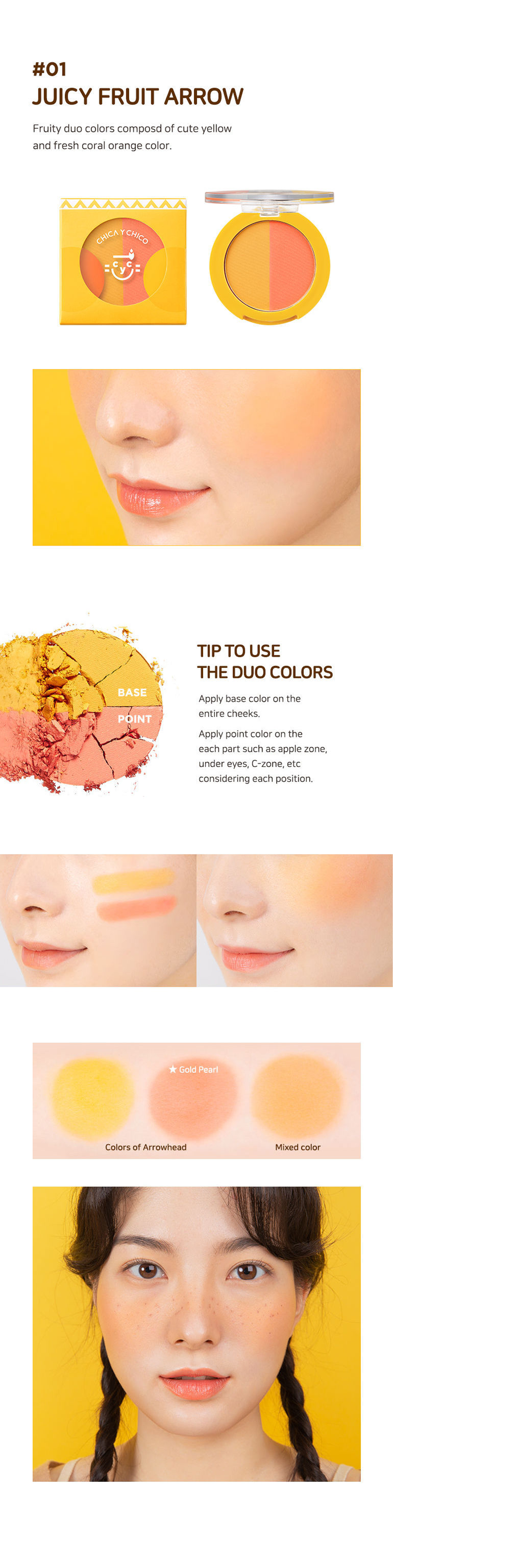 One Touch Duo Blusher #01 Juicy Fruit Arrow