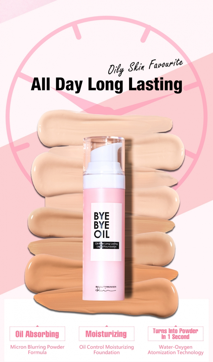 Oil Free Long Lasting Liquid Foundation#Beige