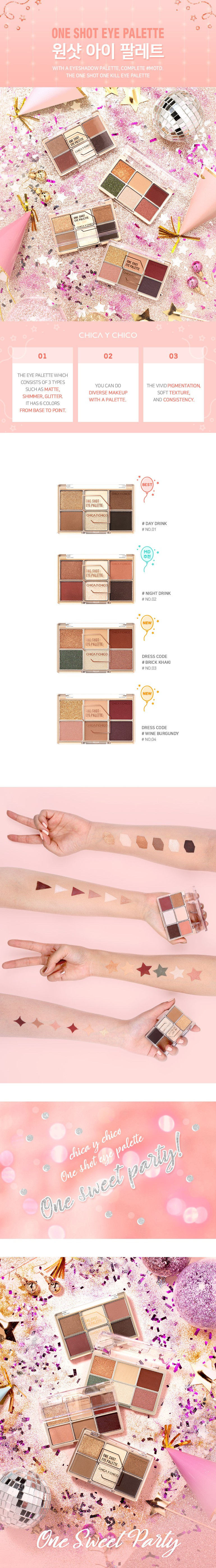 One Shot Eye Palette 04 Wine Burgundy