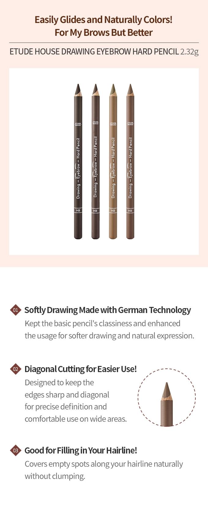 Drawing Eyebrow Hand Pencil #01 Dark Brown