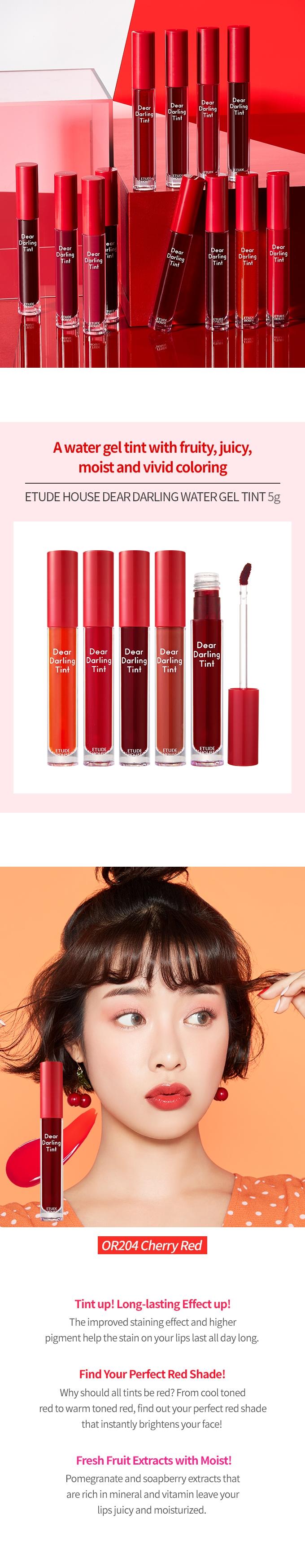 Dear Darling Water Gel Tint #OR203 Grapefruit Red