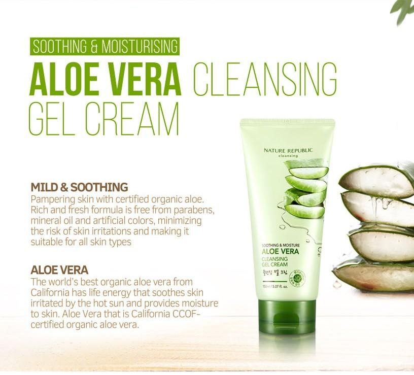 Aloe Vera Soothing Cleansing Gel Foam