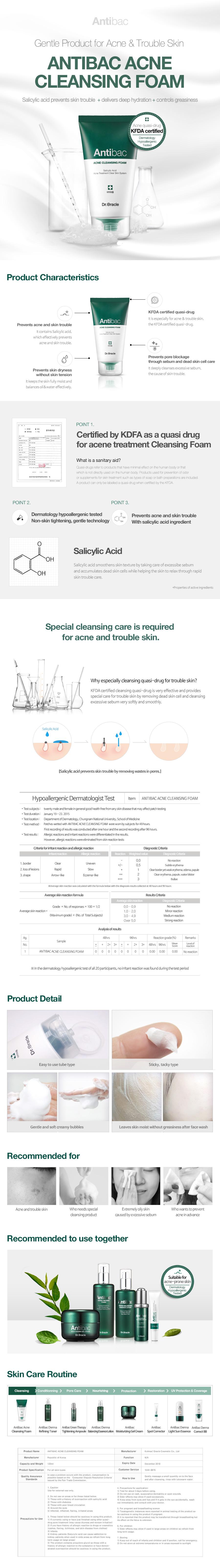 Antibac Acne Cleansing Foam