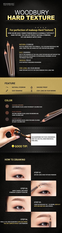 Hard texture Eyebrow Pencil 02 Rose Brown