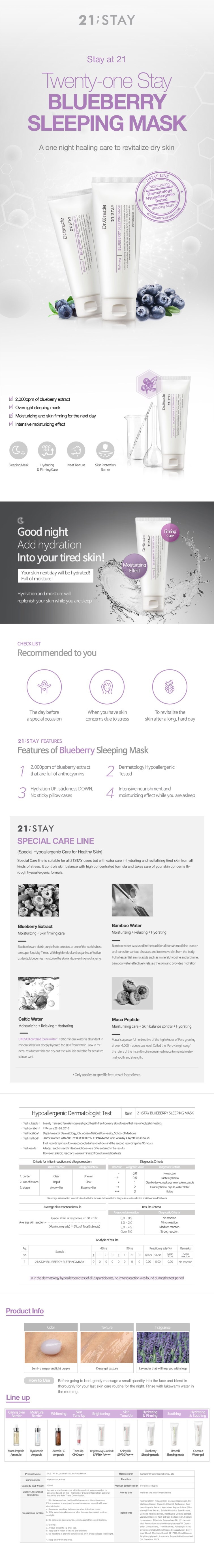 Blueberry Sleeping Mask