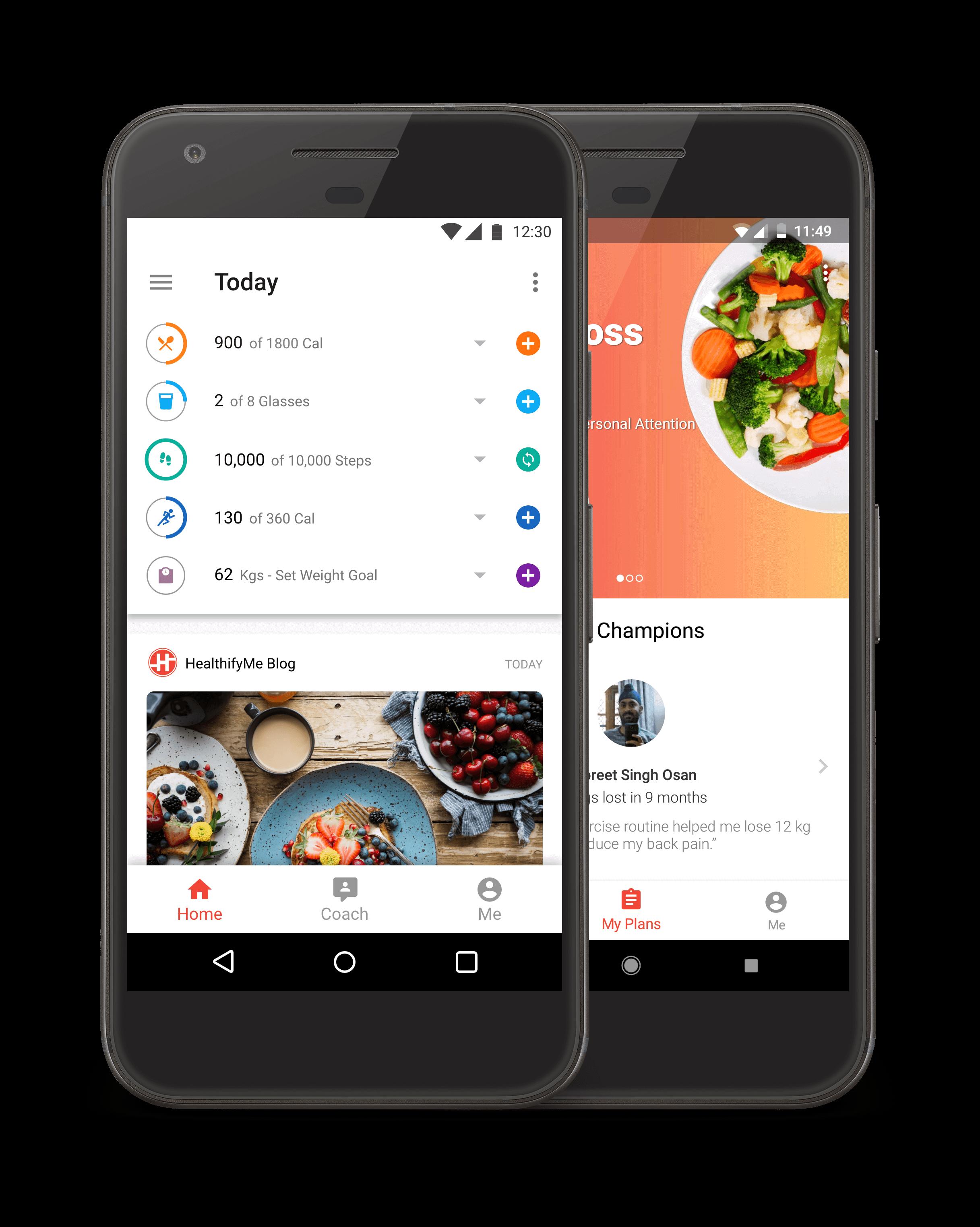 HealthifyMe Dashboard
