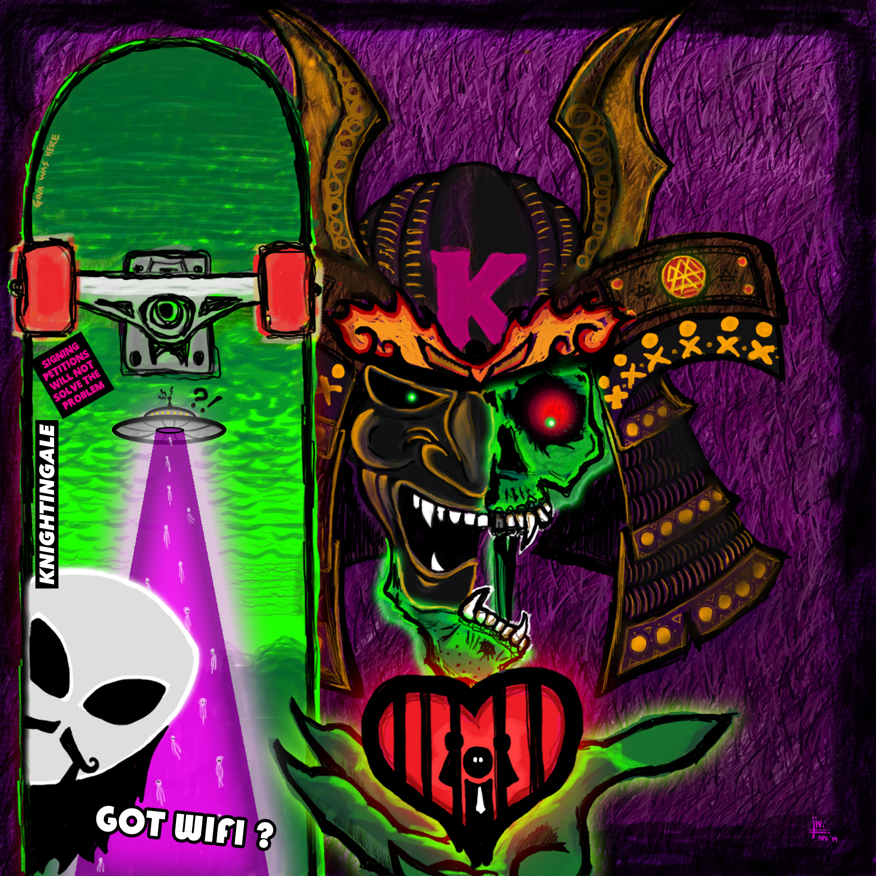 Skate destroy artwork